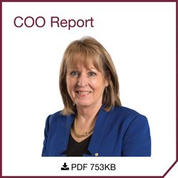 Elizabeth Cosson, Chief Operating Officer, Deputy Secretary - COO Report